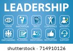 vector illustration. leadership ... | Shutterstock .eps vector #714910126