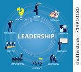 vector illustration. leadership