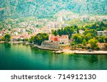 waterfront of small town... | Shutterstock . vector #714912130