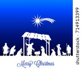 high detail vector nativity... | Shutterstock .eps vector #714913399