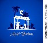high detail vector nativity... | Shutterstock .eps vector #714913408