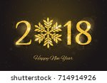 2018 happy new year and merry... | Shutterstock . vector #714914926