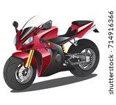 vector illustration of red... | Shutterstock .eps vector #714916366