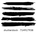 grunge paint stripe . vector... | Shutterstock .eps vector #714917938