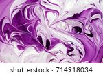 marbled purple and white... | Shutterstock . vector #714918034