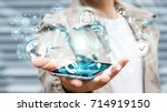 businessman on blurred... | Shutterstock . vector #714919150