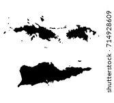 us virgin islands black  map on ... | Shutterstock .eps vector #714928609