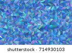light blue vector blurry... | Shutterstock .eps vector #714930103