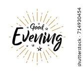 good evening   fireworks  ...   Shutterstock .eps vector #714930454