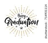 happy graduation   fireworks  ... | Shutterstock .eps vector #714931114