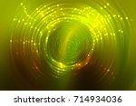 abstract fractal golden... | Shutterstock . vector #714934036
