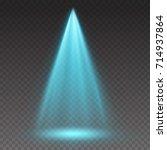 projector vertical light effect.... | Shutterstock .eps vector #714937864