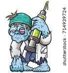 vector illustration of cartoon... | Shutterstock .eps vector #714939724
