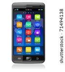 touchscreen smartphone | Shutterstock .eps vector #71494138