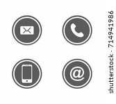 contact icons | Shutterstock .eps vector #714941986