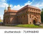 krakow  poland  july 29 2017  ... | Shutterstock . vector #714946840