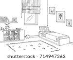 children room graphic black... | Shutterstock .eps vector #714947263