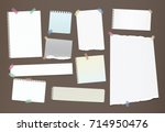 note  notebook  copybook paper... | Shutterstock .eps vector #714950476