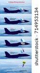 jet pilot in helmet and... | Shutterstock .eps vector #714953134