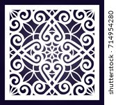 ornamental square swirl... | Shutterstock .eps vector #714954280