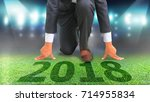 man start business plan in 2018....   Shutterstock . vector #714955834