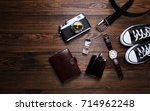 fashion. watches  wallets  belt ... | Shutterstock . vector #714962248