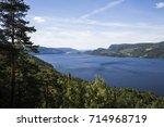 tyrifjorden seen from county... | Shutterstock . vector #714968719