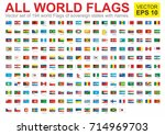 The flags of all countries of the world, all sovereign states recognized by UN, vector image.