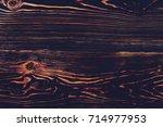 dark wooden texture background... | Shutterstock . vector #714977953