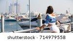 luxurious life. woman enjoying... | Shutterstock . vector #714979558