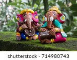 colors of ganesha  musical... | Shutterstock . vector #714980743
