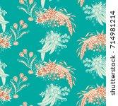 modern zendoodle rapport.... | Shutterstock .eps vector #714981214