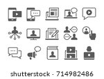 blogging  chat  media and... | Shutterstock .eps vector #714982486