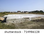 filled foundation of the house... | Shutterstock . vector #714986128