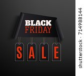black friday sale abstract... | Shutterstock .eps vector #714988144