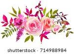 pale bright pink green...   Shutterstock . vector #714988984