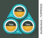 vector circle infographic.... | Shutterstock .eps vector #714990310