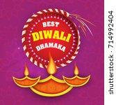 vector illustration of diwali... | Shutterstock .eps vector #714992404