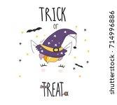 halloween illustrations... | Shutterstock .eps vector #714996886