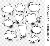 comic speech bubbles   vector... | Shutterstock .eps vector #714997390