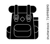 backpack school icon | Shutterstock .eps vector #714998890
