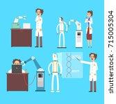 scientists invention in robotic ... | Shutterstock .eps vector #715005304
