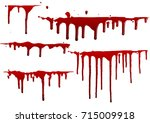 collection set of various blood ... | Shutterstock .eps vector #715009918