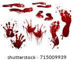 collection various blood or... | Shutterstock .eps vector #715009939