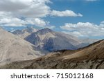 mountain s on the way to nubra... | Shutterstock . vector #715012168