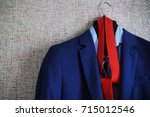 accessories for the groom.gro m ... | Shutterstock . vector #715012546