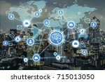 ai artificial intelligence  and ...   Shutterstock . vector #715013050