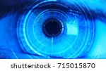 close up of eye in process of... | Shutterstock . vector #715015870