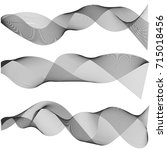 multiple waves abstract wavy... | Shutterstock .eps vector #715018456