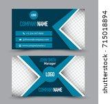 business card template design.... | Shutterstock .eps vector #715018894